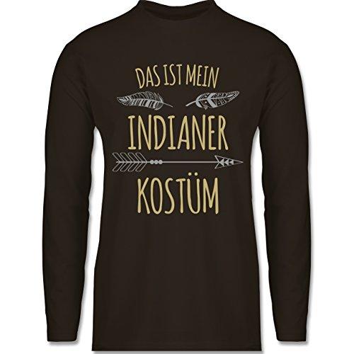 Shirtracer Karneval & Fasching - Das ist Mein Indianer Kostüm - L - Braun - BCTU005 - Herren - Indianer Kostüm Kriegsbemalung