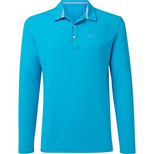 Sportkind Jungen & Herren Tennis / Golf / Sport Langarm Poloshirt, türkis, Gr. L