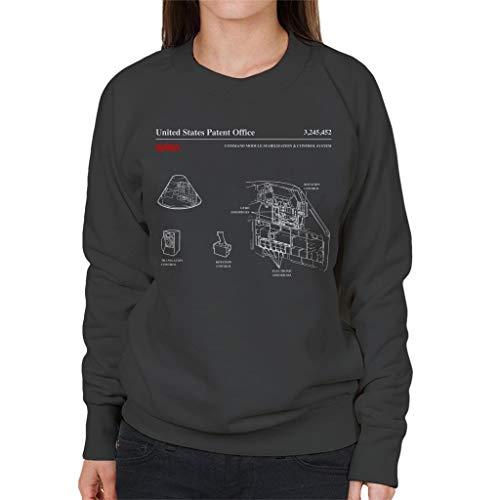 Nasa Command Module Control System Blueprint Women's Sweatshirt - Command-system