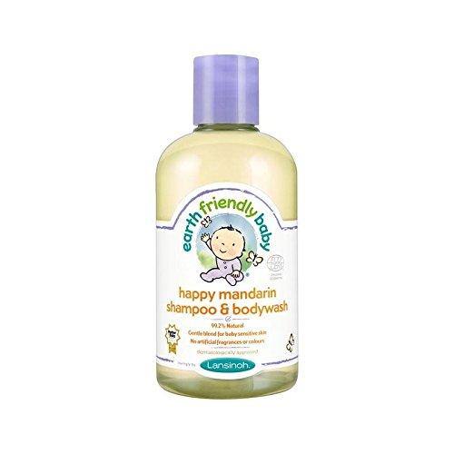 Umweltfreundliche Baby Glücklich Mandarin Shampoo & Duschgel Ecocert 250Ml - Packung mit 6