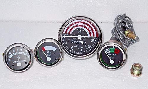 IH B250,B275,B414,276,354,434,444 Tachymètre + Température + Pression d'huile + Jauge Ampère
