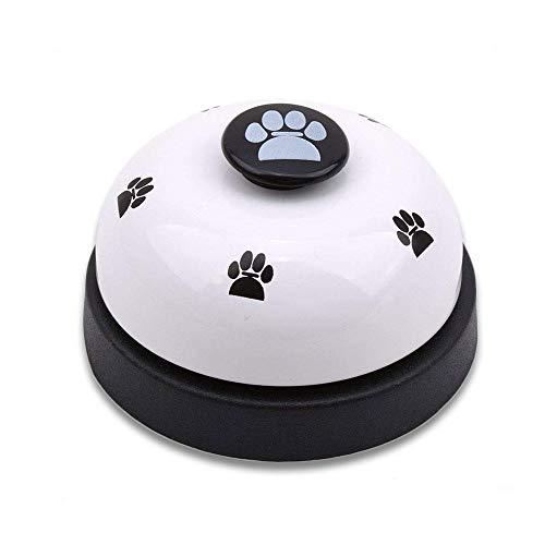 FOONEE Töpfchentraining Glöckchen für Welpen, Haustier Türklingel für Katzen, mit Pfotenabdruck, interaktives IQ-Training für Hunde und Kätzchen, Fütterungszeit Schwarz