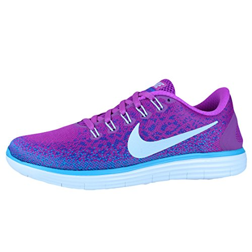Nike Damen Wmns Free RN Distance Laufschuhe Azul (Hypr Vlt / Bl Tnt-Frc Prpl-Bl Lg)