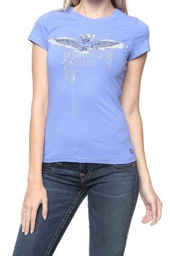 Aeronautica Militare Damen Shirt Logo-T-Shirt Emelie Paste, Farbe: Violett, Größe: M