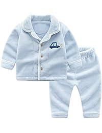 34beb713c9 OPPP Pijamas de niños Ropa para niños Ropa de niñas Pijamas Invierno bebé  Servicio a Domicilio Engrosamiento niño Coral Polar Conjunto de…
