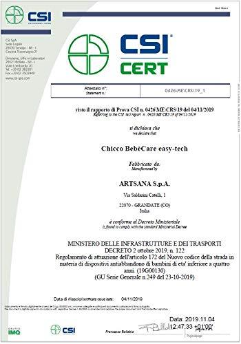 Chicco Bebecare Easy-Tech Sistema Anti-Abbandono, Bianco