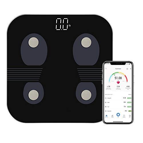 DQMJ Elektronische Waage , Verbindung zu Bluetooth-intelligenter hoher Präzisions-Digital-LED-Badezimmer-Waage Gesundheit Fettfeuchtigkeits-Test-Skala