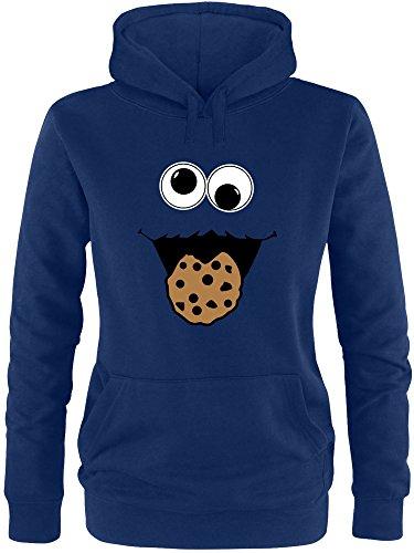 EZYshirt® Cookie Monster Damen Hoodie | Damen Kapuzenpullover | Damen ()