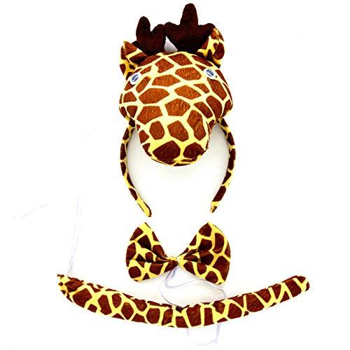 Lovelegis giraffa - set cerchietto - coda - papillon - animali - donna - bambini - costume travestimento carnevale halloween cosplay accessori - idea regalo