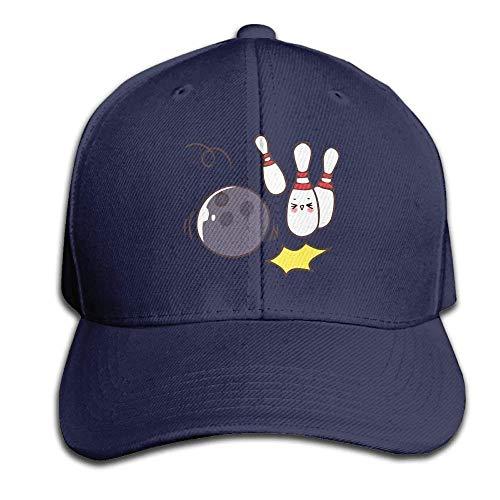 Humorous Funny Bowling Cartoon Hats Cap Baseball Adjustable Unisex