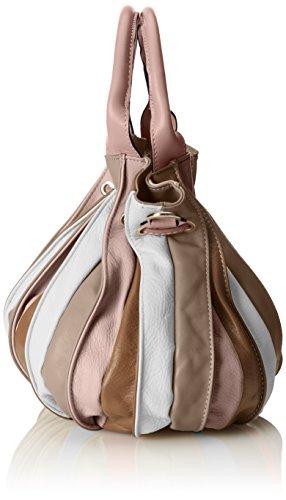 CTM Sac à main, sac fourre-tout des femmes en cuir véritable made in Italy 28x27x28 Cm Rose (Rosa)