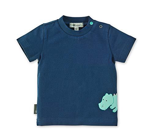 Sterntaler T-Shirt für Jungen, Niedliches Krokodil Konrad-Motiv, Alter: 18-24 Monate, Größe: 92, Blau (Marine)