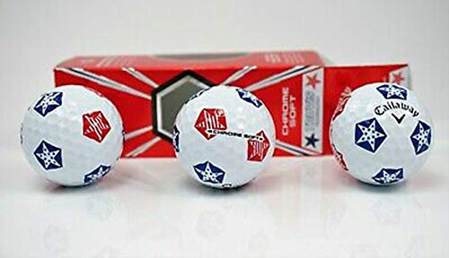 Callaway Chrome Soft Stars and Stripes Sleeve - 3 Ball Pack -