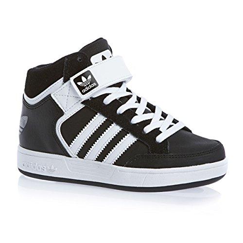 adidas Originals Varial Mid J, Baskets mode mixte enfant Noir (Noiess/Ftwbla/Noiess)