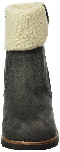 TOM TAILOR Damen 1690205 Kurzschaft Stiefel Grau (Coal)