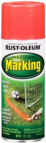 Rust-Oleum 1991830 11-Ounce Specialty Spray Marking, Fluorescent Red