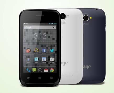 Rage magic 35 B Smart Dual Sim Phone Android -white Color