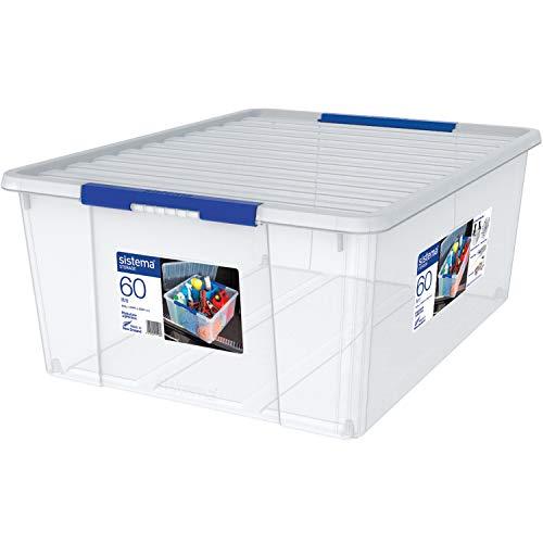 Sistema Storage Large Behälter Polypropylen, Kunststoff, Transparent, 60 Liter - Büromöbel-sortiment