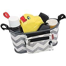 Vine Cochecito de almacenamiento organizador del cochecito de bebé bolsa de pañales bolso cambiador ybolsa de la cremallera extraíble