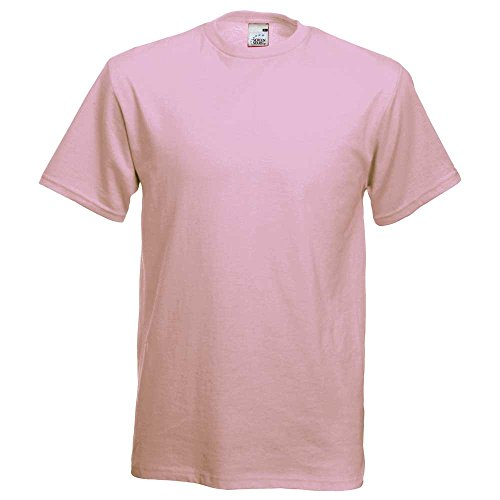 Fruit of the Loom -  T-shirt - Uomo XL - 44-46\\ Chest (112-117cm),Light Pink
