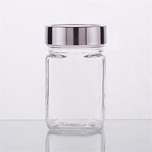Ahui Gewürzglas Gewürze Dosen Gewürz Flasche Lagerung Tee Sauce Ölkonserven Essen Kochen und Essen 300ML - Set von 5 (Acryl-krug Und Glas-set)