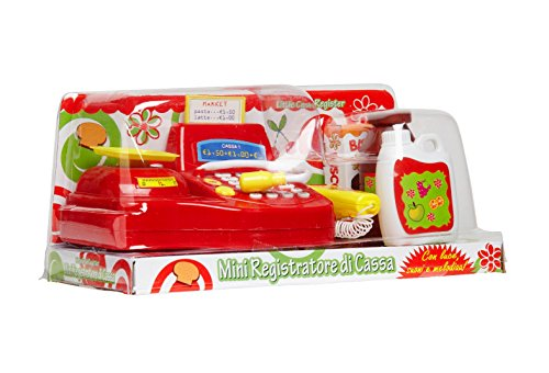 Globo Toys globo36166W 'Toy Cash Register mit Licht/Sound/Musik und Zubehör - Nerf Hubschrauber