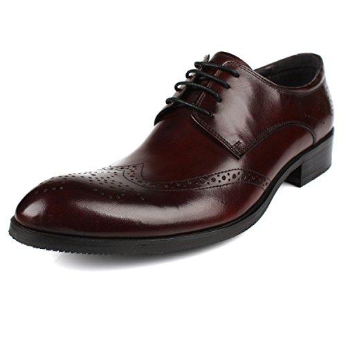 GRRONG Chaussures En Cuir Pour Homme Ceinture En Cuir Robe Daffaires Avec Creux Banquet Respirant brown