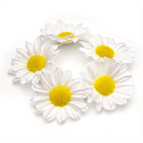 daisy-flower-bun-ring-garland-scrunchie-elastic-hair-band-white-by-generic