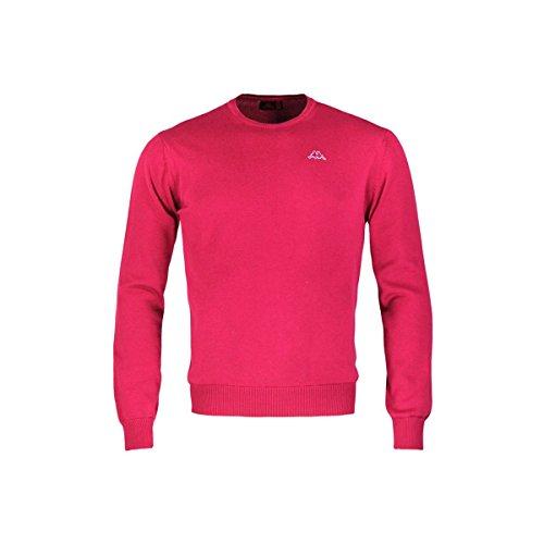 Robe Di Kappa - Maglia Cotone Pullover Uomo Girocollo Sport Paricollo Rainard RED CERISE