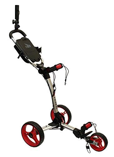 Axglo Axtrilite Chariot de Golf Mixte Adulte, Gris/Rouge