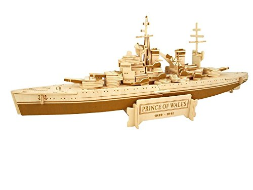 Etna Iława HMS Prince of Wales 3D Holzbausatz Schiff Boot Holz Steckpuzzle Holzpuzzle Kinder P216