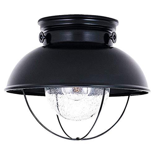 ZHANG NAN ● Nordic Balkon Deckenleuchte Veranda Gang Garderobe Lampe Beleuchtung Kreative Kleine Haushaltslicht Küche Lampe Schwarz E27-1 Lichter ●
