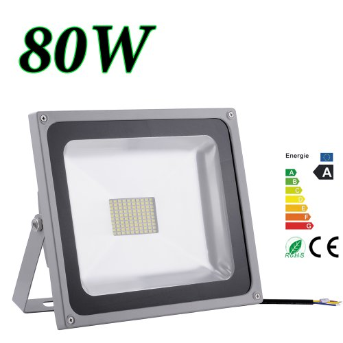 20W 30W 50W 80W Blanco Frío & Blanco Cálido Luz Proyector LED Foco proyector, IP65 Impermeable Resistencia (80w luz blanca fría)