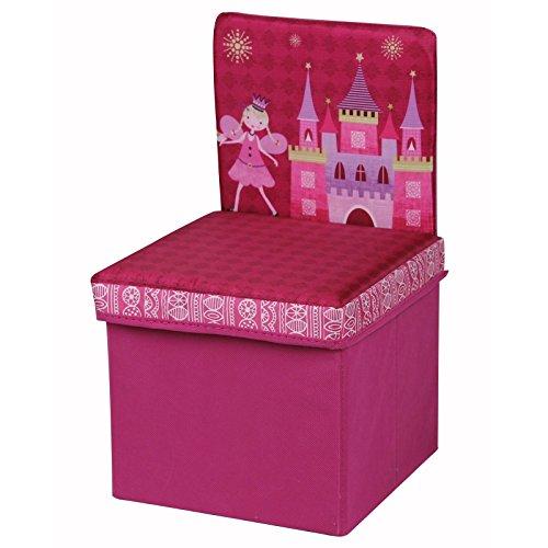Kinderstuhl Sitzhocker KIDS in pink, faltbar mit abnehmbaren Deckel und Stauraum