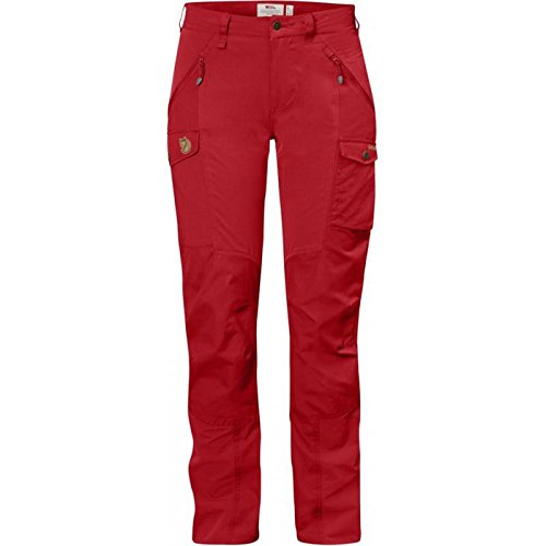 Fjällräven Damen Nikka Curved Trousers Lange Hose, Red, 38
