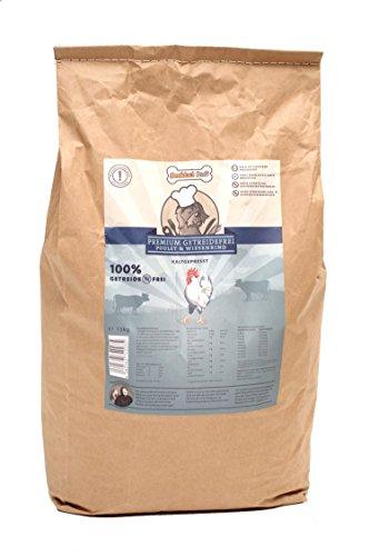 Hochwertiges getreidefreies Hundefutter trocken für klein, groß und Senior I Hundekochprofi Poulet & Wiesenrind Hundefutter getreidefrei Trockenfutter 15kg I Hundenahrung kaltgepresst glutenfrei (15 Kg)