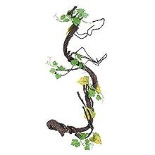 Vignes de Reptiles Grimpeur Artificiel Jungle Forest Bend Habitat pour Animaux de Compagnie Décor pour Serpents Grenouilles lézards(L)