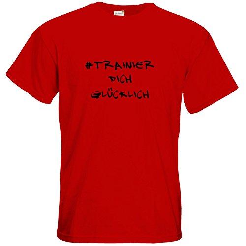 getshirts - Station B3.1 - T-Shirt - #trainierdichglücklich schwarz Red