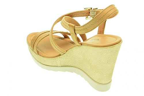 NERO GIARDINI donna sandali con la zeppa P512812D/400 Cuoio