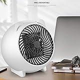 Mini Termoventilatore Stufa elettrica portatile Riscaldamento Rapido Per Bagno, Stanza, Ufficio,Mini maiale simpatico cartone animato,bianco 250W