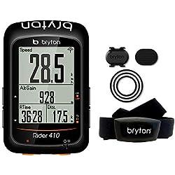 "Bryton Rider 410T GPS Ciclismo, Negro, 2.3"""