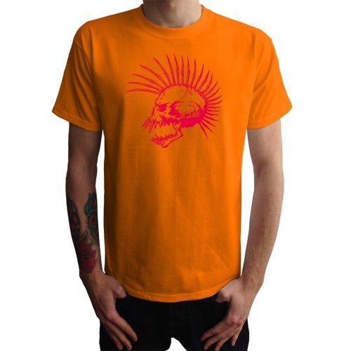 Punk Skull Herren T-Shirt Orange