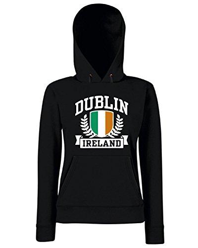 T-Shirtshock - Sweats a capuche Femme TSTEM0161 dublin ireland Noir