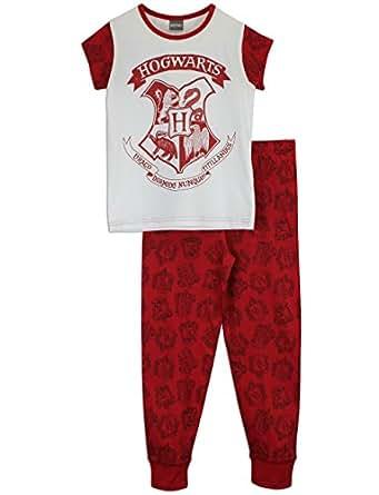 harry potter m dchen harry potter schlafanzug hogwarts. Black Bedroom Furniture Sets. Home Design Ideas