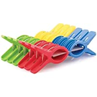 RJKART Plastic Cloth Hanging Clips Cloth Peg Drying Pins Pegs for Hanger Set of 12 Pieces