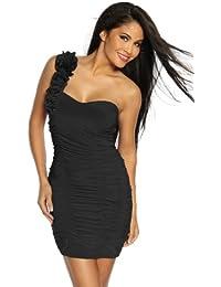 Cocktailkleid / Abendkleid Damen schwarz Oberteil Kleid Dress