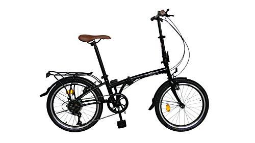 Ecosmo 20F01BL City-Fahrrad, 6 Gänge, 51 cm, zusammenklappbar