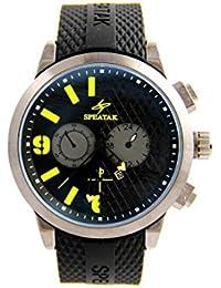 Speatak Pagani Montres Homme - Montre Homme Style Bracelet Silicone Noir SPEATAK 2825