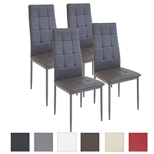 Albatros Esszimmerstühle RIMINI, 4-er SET Grau, SGS gestestet, Sitzgruppe