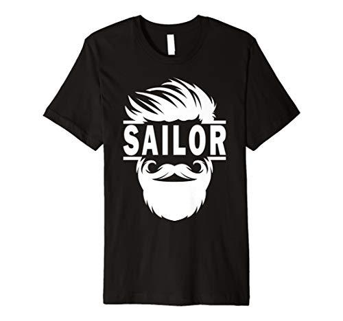 Bearded Boot Sailor Segeln T-Shirt: Captain Geschenk Lustiges Tee